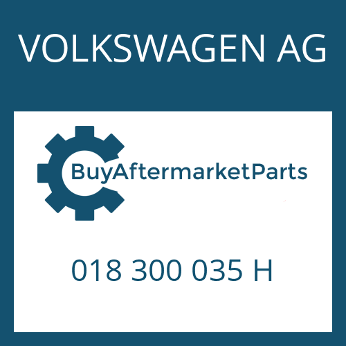VOLKSWAGEN AG 018 300 035 H - 4 HP 24 A