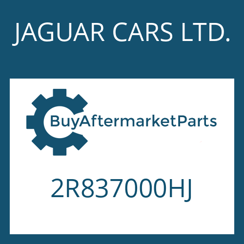 JAGUAR CARS LTD. 2R837000HJ - 6 HP 26 SW