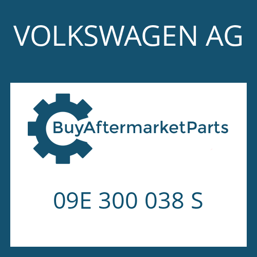 VOLKSWAGEN AG 09E 300 038 S - 6 HP 26 A 61 SW
