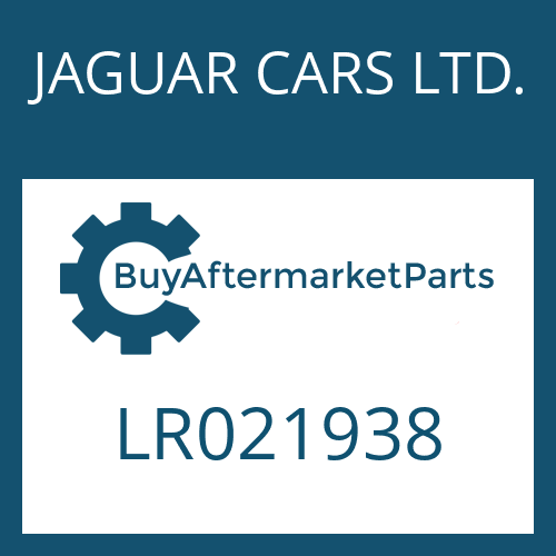 JAGUAR CARS LTD. LR021938 - 6 HP 28 X SW