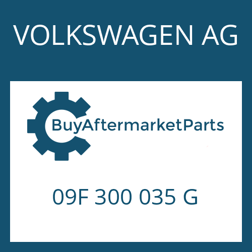 VOLKSWAGEN AG 09F 300 035 G - 6 HP 32 A SW