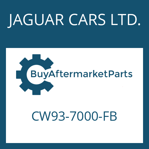 JAGUAR CARS LTD. CW93-7000-FB - 8HP70 HIS SW