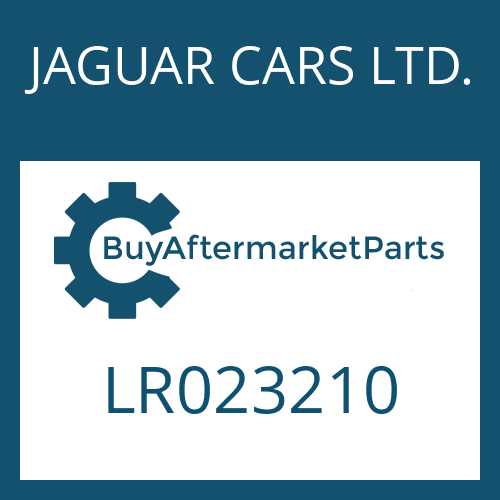 JAGUAR CARS LTD. LR023210 - 8HP70X