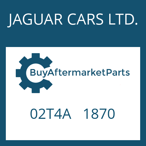JAGUAR CARS LTD. 02T4A   1870 - 8HP70X HIS SW