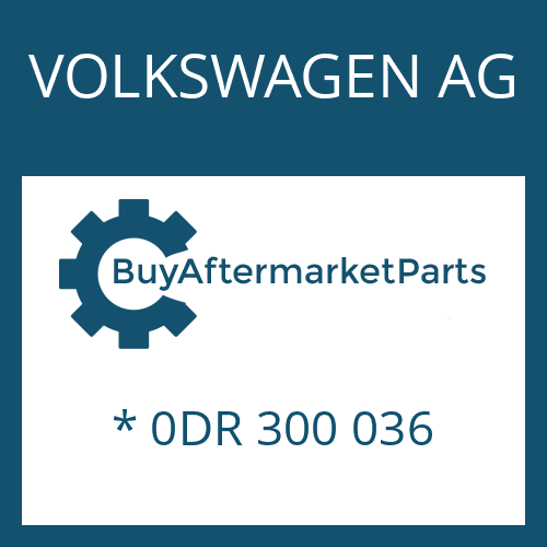VOLKSWAGEN AG * 0DR 300 036 - 8HP70X HIS SW