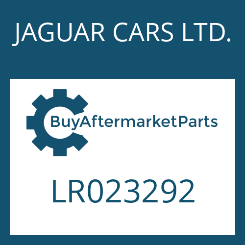 JAGUAR CARS LTD. LR023292 - SMALL COMPONENTS SET