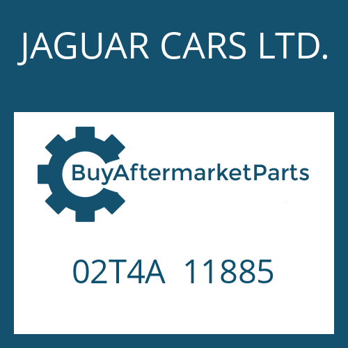JAGUAR CARS LTD. 02T4A  11885 - 8HP45X SW