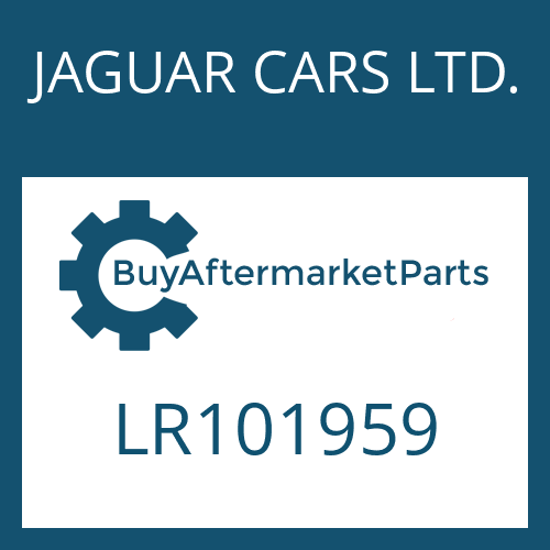 JAGUAR CARS LTD. LR101959 - 9HP48QX SW