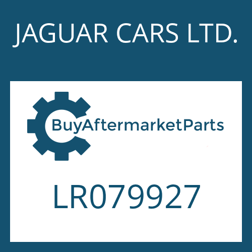 JAGUAR CARS LTD. LR079927 - 9HP48QX SW