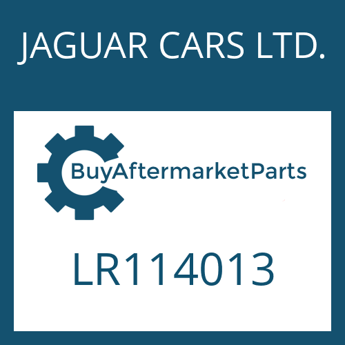 JAGUAR CARS LTD. LR114013 - PUMP