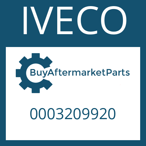 IVECO 0003209920 - COVER
