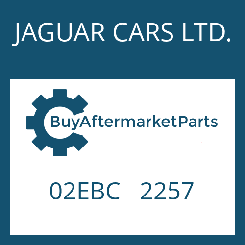 JAGUAR CARS LTD. 02EBC   2257 - CONVERTER