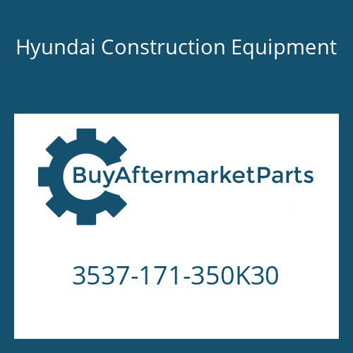 Hyundai Construction Equipment 3537-171-350K30 - PORT RELIEF VALVE