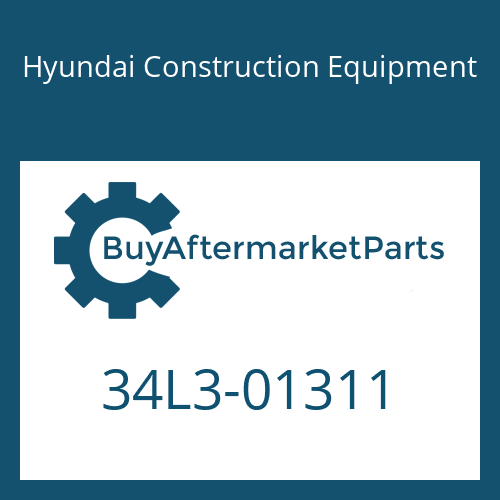 Hyundai Construction Equipment 34L3-01311 - VALVE-CHECK