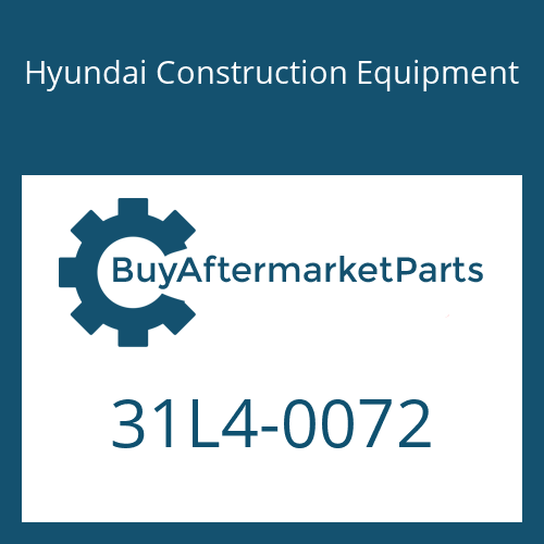 Hyundai Construction Equipment 31L4-0072 - O-RING