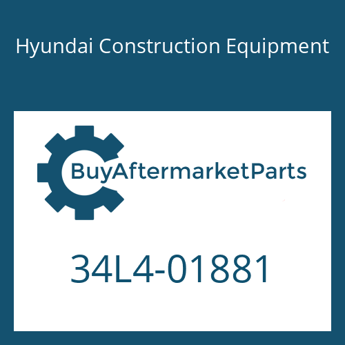 Hyundai Construction Equipment 34L4-01881 - PLATE
