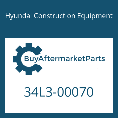 Hyundai Construction Equipment 34L3-00070 - VALVE-SAFETY LOCK