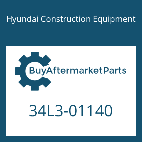 Hyundai Construction Equipment 34L3-01140 - PLATE