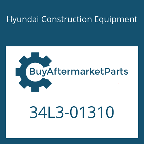 Hyundai Construction Equipment 34L3-01310 - VALVE-CHECK