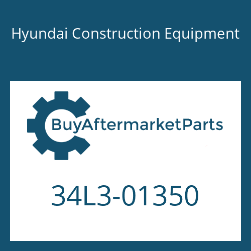 Hyundai Construction Equipment 34L3-01350 - PLATE