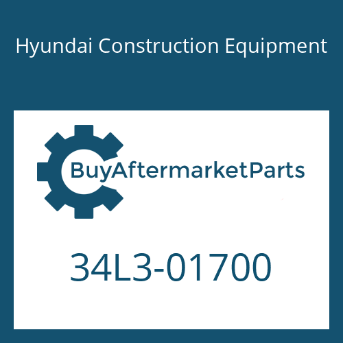 Hyundai Construction Equipment 34L3-01700 - COVER