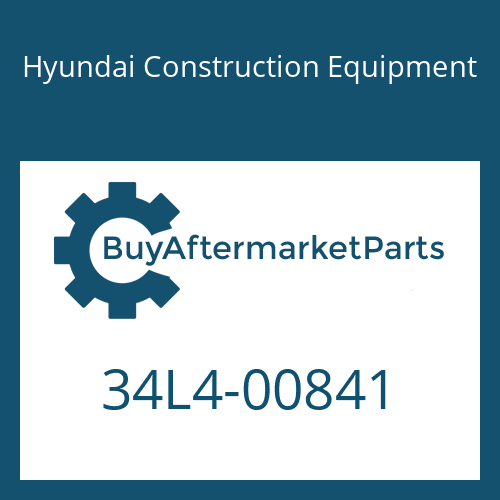 Hyundai Construction Equipment 34L4-00841 - PIPE-COOLING