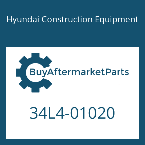 Hyundai Construction Equipment 34L4-01020 - PLATE