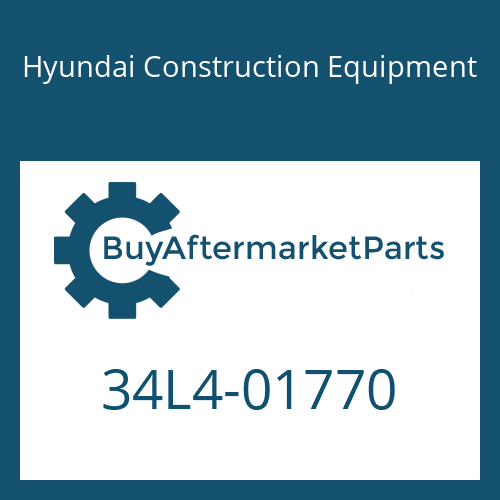 Hyundai Construction Equipment 34L4-01770 - TEE