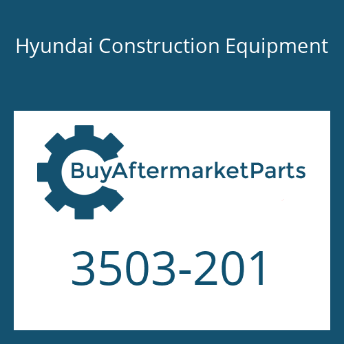 Hyundai Construction Equipment 3503-201 - COVER