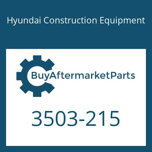 Hyundai Construction Equipment 3503-215 - COVER