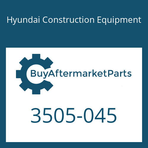 Hyundai Construction Equipment 3505-045 - RETAINER