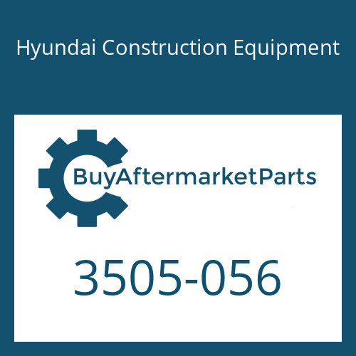 Hyundai Construction Equipment 3505-056 - RETAINER