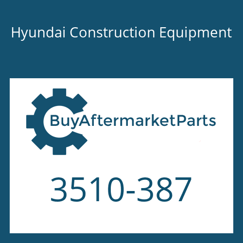 Hyundai Construction Equipment 3510-387 - PLUNGER-BOOM
