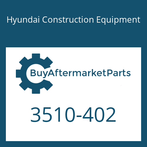 Hyundai Construction Equipment 3510-402 - PLUNGER-SWING