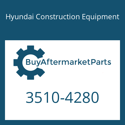 Hyundai Construction Equipment 3510-4280 - PLUNGER,MCV(BOOM)
