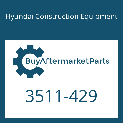 Hyundai Construction Equipment 3511-429 - PLUNGER