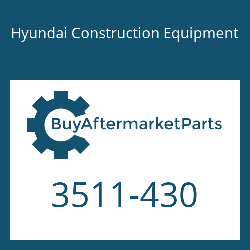 Hyundai Construction Equipment 3511-430 - PLUNGER ASSY