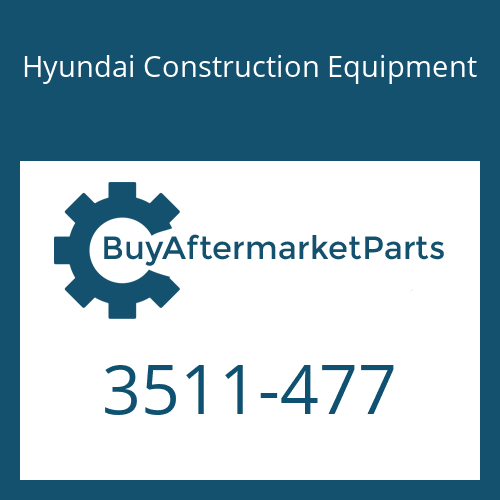 Hyundai Construction Equipment 3511-477 - PLUNGER
