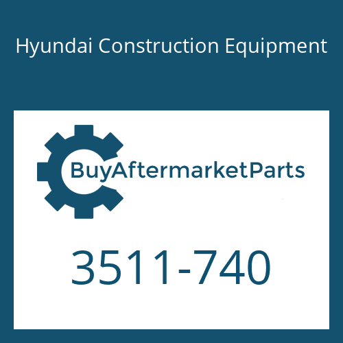 Hyundai Construction Equipment 3511-740 - PLUNGER-SWING