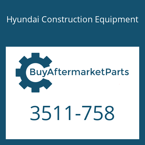 Hyundai Construction Equipment 3511-758 - PLUNGER