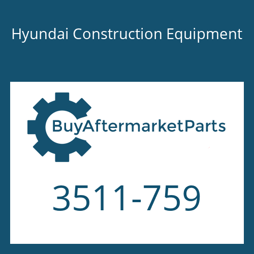 Hyundai Construction Equipment 3511-759 - PLUNGER-BKT