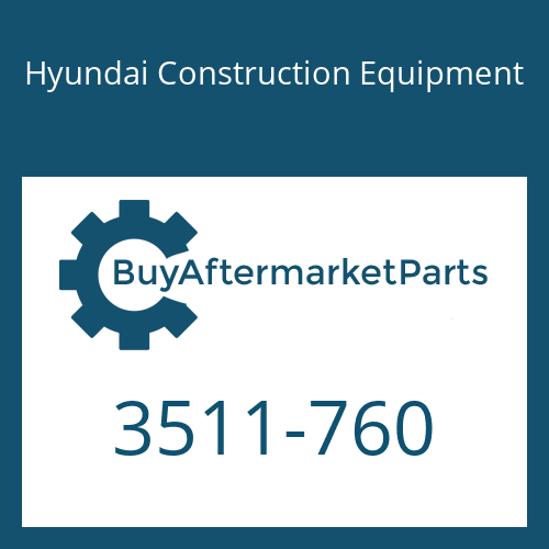 Hyundai Construction Equipment 3511-760 - PLUNGER-BOOM 1