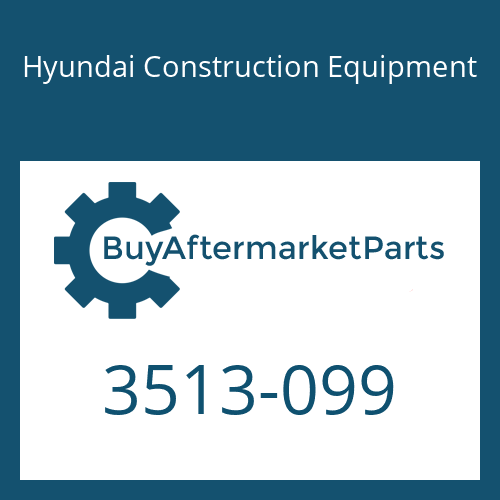 Hyundai Construction Equipment 3513-099 - VALVE-CHECK