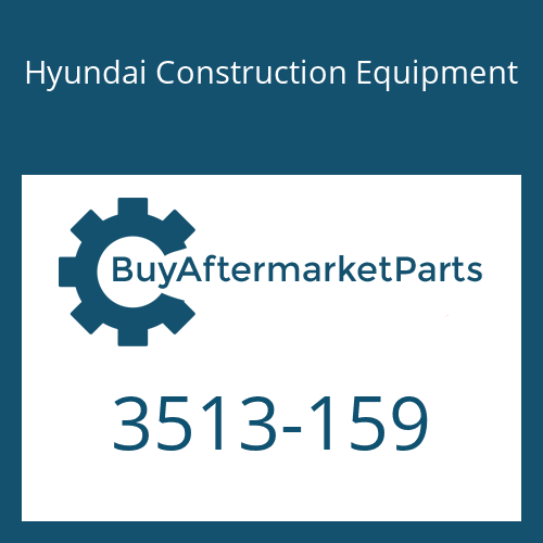 Hyundai Construction Equipment 3513-159 - POPPET