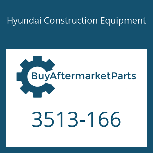 Hyundai Construction Equipment 3513-166 - POPPET