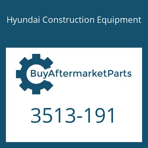 Hyundai Construction Equipment 3513-191 - POPPET
