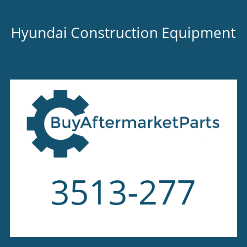 Hyundai Construction Equipment 3513-277 - POPPET