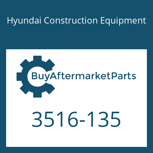 Hyundai Construction Equipment 3516-135 - SLEEVE