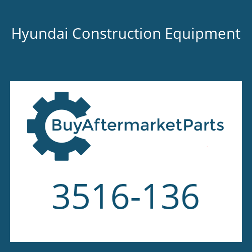 Hyundai Construction Equipment 3516-136 - SLEEVE