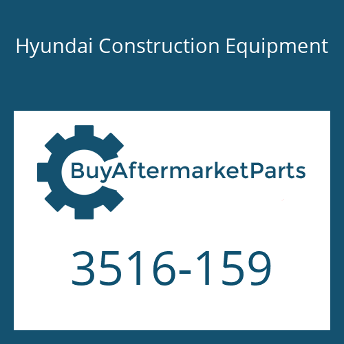 Hyundai Construction Equipment 3516-159 - SLEEVE